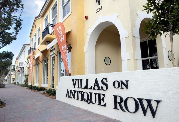 Villas on Antique Row in West Palm Beach. (Bill Ingram/Palm Beach Post)